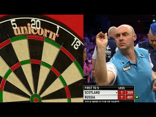 Russia vs Scotland (PDC World Cup of Darts 2014 / First Round)