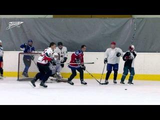 Зенитовцы сыграли в хоккей