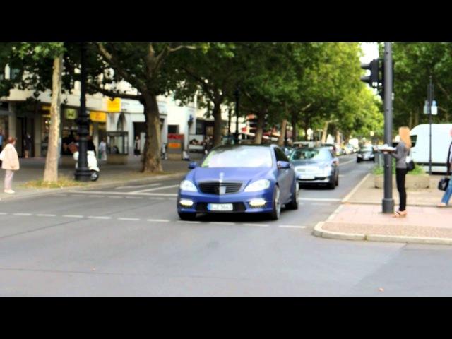 Matt lila blauer folierter S63 AMG sound acceleration 2
