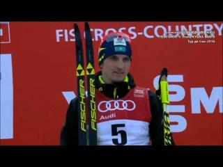 А.Полторанин (КАЗ) - Чемпион лыжные гонки V Этап Кубка Мира / Tour de Ski-2016 15 km Gold medal