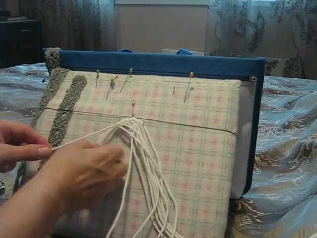 Плетение пояса в технике макраме. Урок 1.