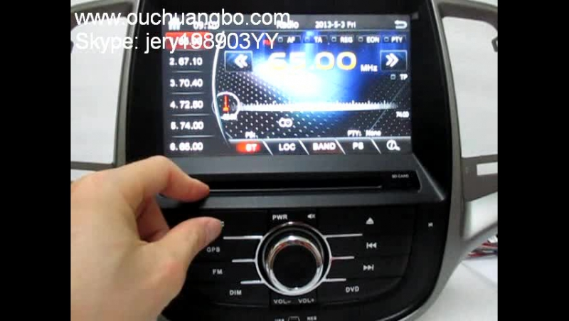 Ouchuangbo HD screen car kit bluetooth lcd monitor for Changan Eado