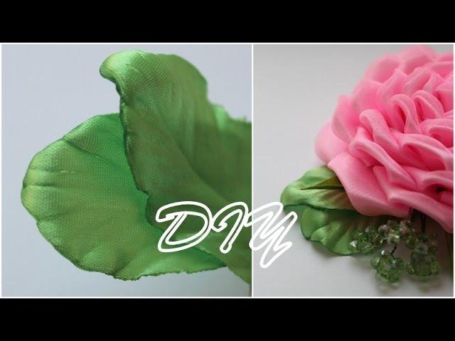 Лепестки Канзаши для Розы Petals kanzashi for Roses