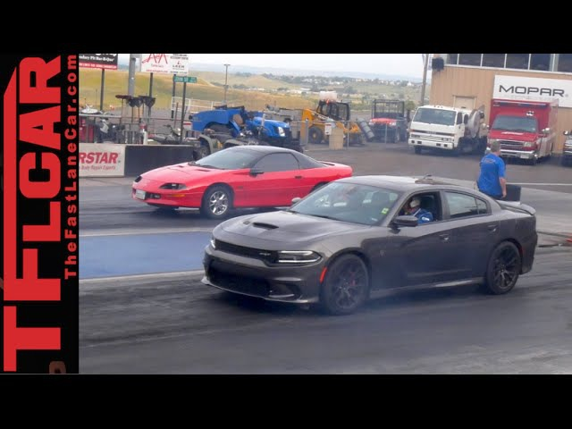 Dodge Charger Hellcat vs Camaro vs Sport Bike Performance Review at Bandimere Speedway