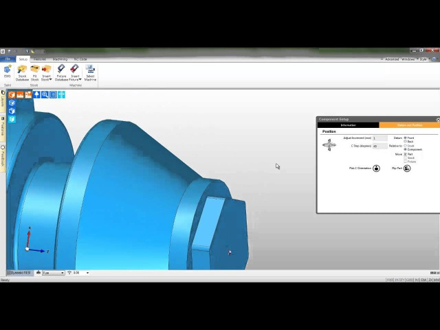 2a Edgecam TestDrive tutorial Load and align the solid body turning