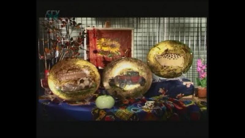 Декупаж тарелки Используем поталь имитацию золота Мастер класс Наташа Фохтина