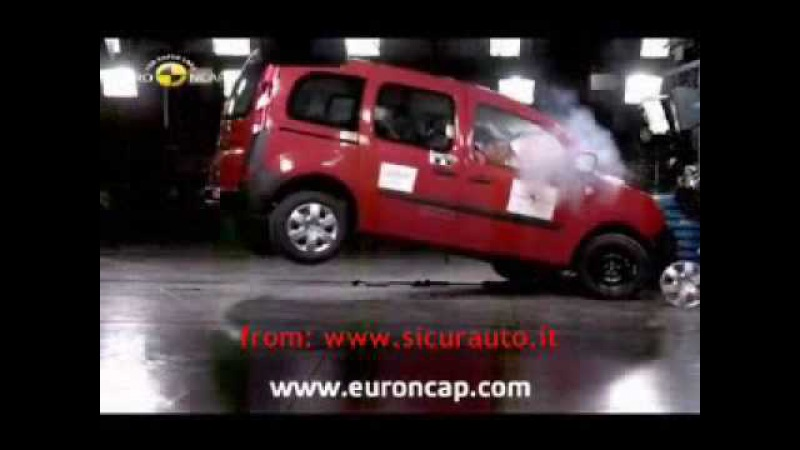 Crash Test EuroNCAP Renault Kangoo (2008) www.sicurauto.it