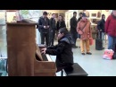 11 year old George plays Beethoven Waldstein Sonata No. 21, 3rd Mov. on a Street Piano!