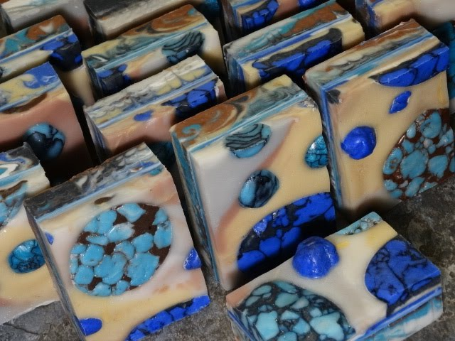 Chenango River Turquoise by Black Cat Blues-Premium Hand Made Art Soap