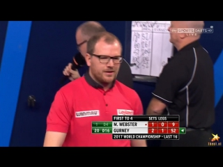 Mark Webster vs Daryl Gurney (PDC World Darts Championship 2017 / Round 3)