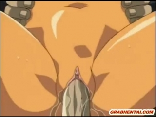 Cartoon girls are kneeling in front of a guy and taking turns sucking his dick
