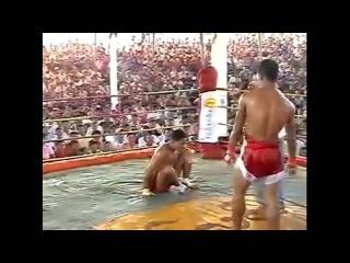 Brutal Burma vs Muay Thai fight no gloves knockout