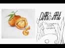 Как нарисовать мандарин акварелью! Dari Art рисоватьМОЖЕТкаждый