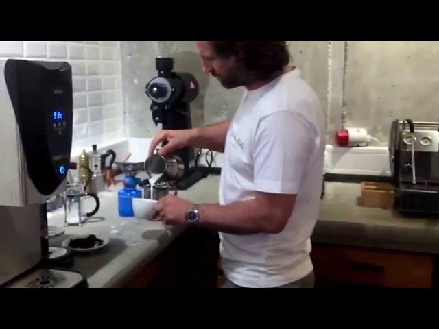 Latte art training by Barista Dritan Alsela