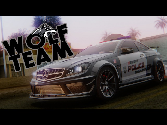 Mercedes Benz C 63 AMG Black Series Coupe Police GTA San Andreas by DIMEN