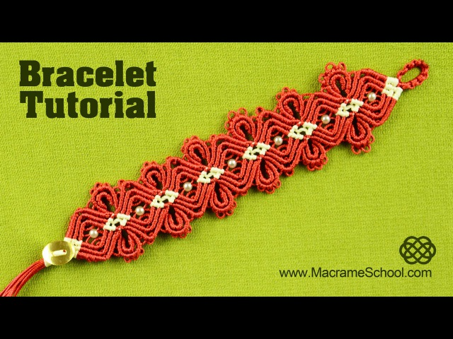 Macramé Diamond Flower Bracelet Tutorial Macrame School