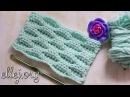 ♥ Рельефный волнистый узор крючком • Эффект клоке • Crochet Textured Wave Stitch •
