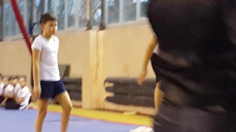Награждение. 1 место среди мальчиков во 2 юношеском разряде по акробатике! Тихон молодец