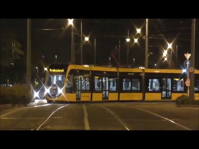 The world's longest tram in Budapest Test run CAF Urbos villamos Straßenbahn