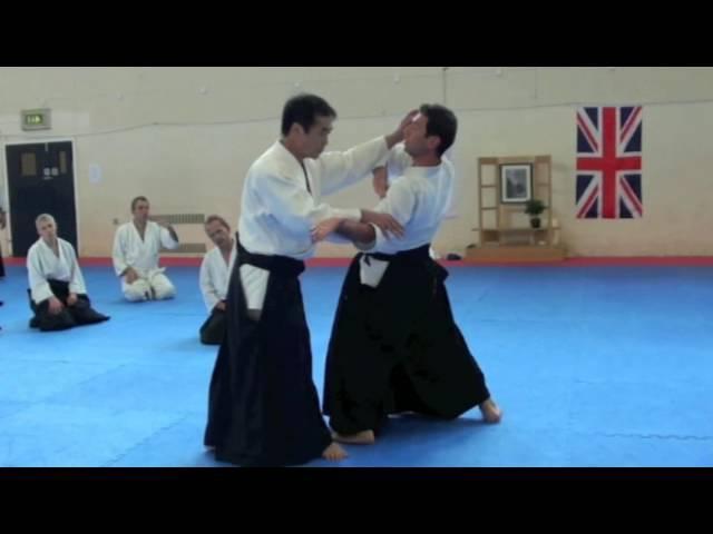 Yulimitsu Kobayashi Sensei 7th Dan Aikikai Hombu Shihan teaching Yokomenuchi Gokyo