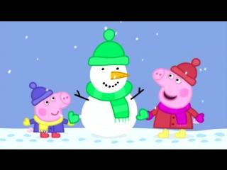 Peppa pig [свинка пеппа] 12 snow cartoons in english for kids [мультфильм на английском для детей]