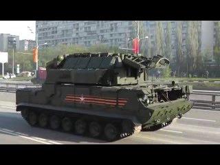 Военная техника перед генеральной репетицией парада победы 9 мая. 4-я колонна