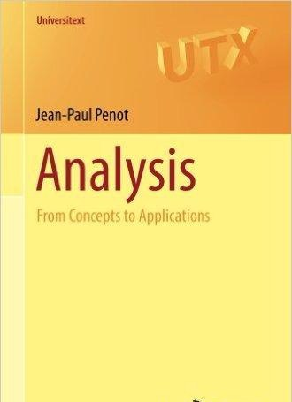 Analysis From Concepts to Applications