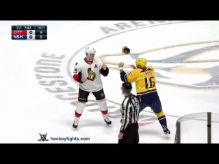 Chris Neil vs Cody Bass Nov 8, 2016
