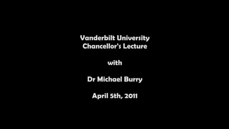Michael Burry on the financial crisis