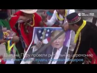 Ну здравствуй, Трамп. Шаманы Перу проводят церемонию в помощь В. Путину.