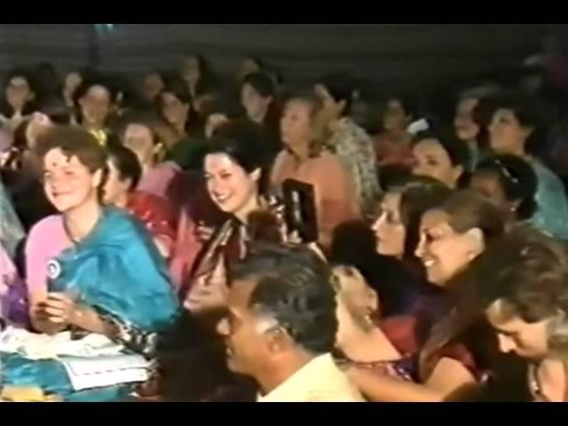 Shri Mataji singing Raghupati Ram 1986 1011 Navaratri Celebrations Kolkata