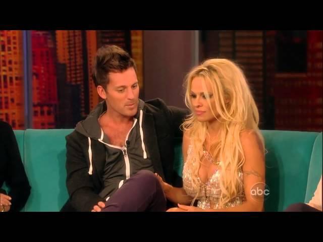 Pamela Anderson and Tristan MacManus The View
