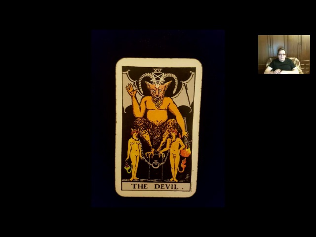 Аркан Дьявол в колоде таро Уайта. Знак Зодиака Стрелец.