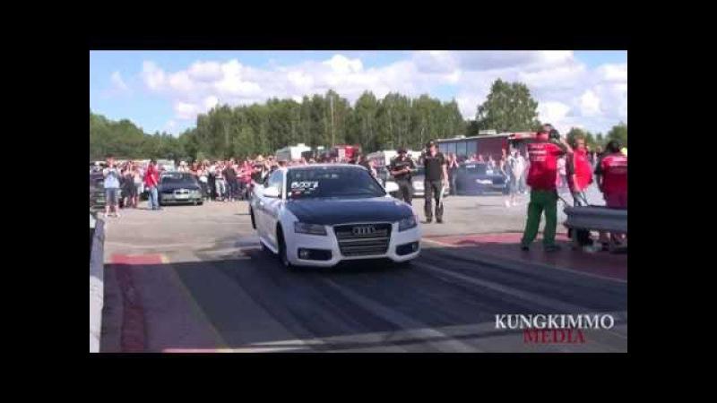 Eklund Racing Audi A5 breakout at Action Meet, Mantorp Park