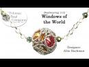 Windows of the World Pendant Beaded Bead Necklace Earrings Bracelet Tutorial