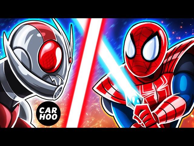 MASKED SPIDER Ep03 Spider man vs Antman Sword Fight Marvel's Spider man Parody