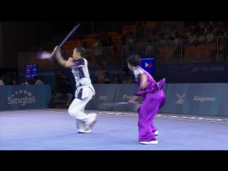 Wushu womens duel event weapon (day 1) 28th sea games singapore 2015