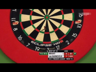 Peter Wright vs Raymond van Barneveld (2017 Premier League Darts / Week 15)