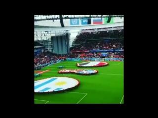 La apertura del partido entre Uruguay y Egipto
