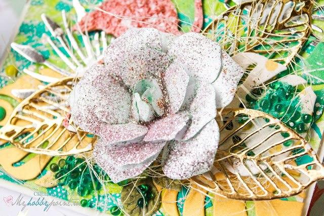 растительный фоновый   чипборд - ровный, чистый, крепкий,