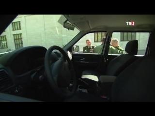 Генерал оторвал ручку у УАЗ Патриот, показывая Путину новую технику