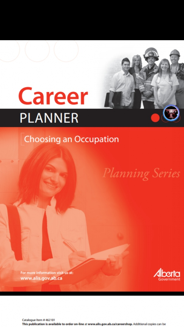 Career Planner Choosing an Occupation