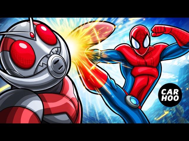MASKED SPIDER Ep02 Spider man vs Antman Fist Fight Marvel's Spider man Parody