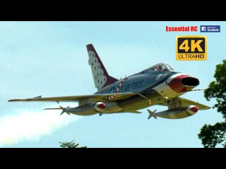 GIANT SCALE North American F-100  D Super Sabre supersonic RC JET FIGHTER  UltraHD / 4K