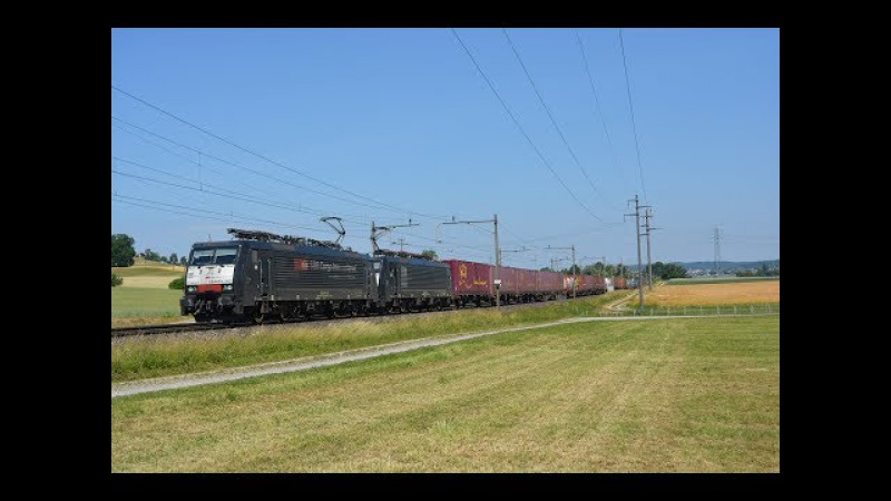 Bahnverkehr auf der Südbahn am 20.06.17 - Altbau- und Drehstromloks