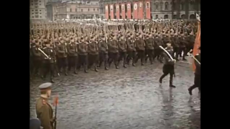 Парад победы 24 июня 1945 года СССР Пехота Сталина
