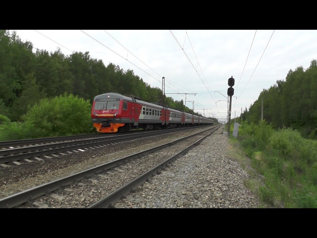 Электропоезд ЭД4М-0429 перегон Барыбино - Михнево