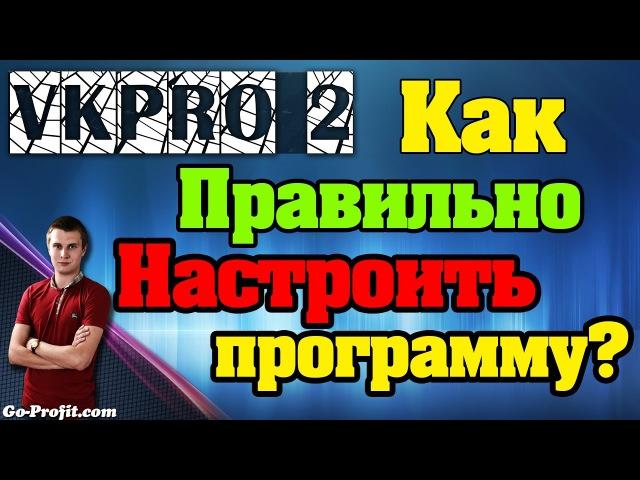 ✅ VkPro 2 - Как правильно настроить программу, что-бы не забанили