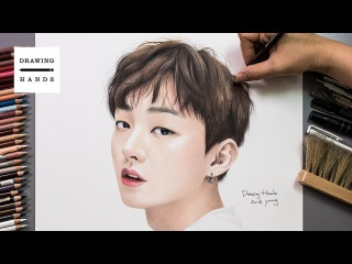 워너원_윤지성 그림 그리기 (Speed Drawing Wanna One_ Yoon Ji Sung) [Drawing Hands]