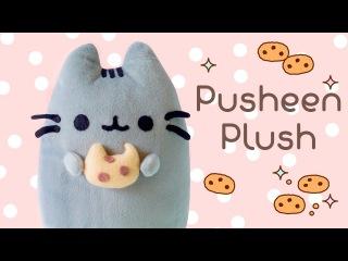 DIY Pusheen Cat & Cookie Plush Tutorial | How to make Pusheen Pillow | I Wear A Bow